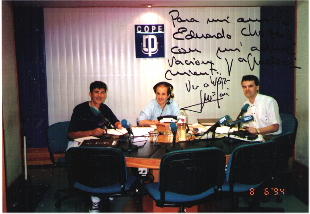 En la Cadena Cope con José María García y Agustín Castellote