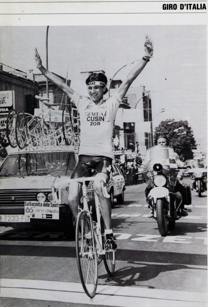 Eduardo Chozas, 22 años, Giro de 1983, ganador de la etapa Terni_vasto