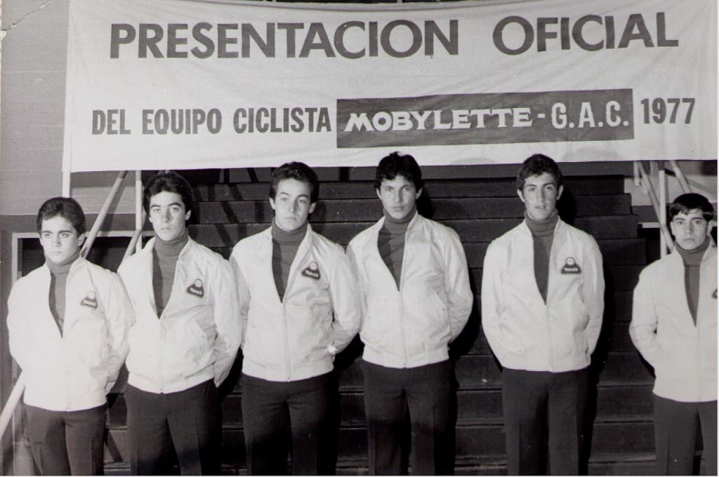 Eduardo Chozas, 1977 Equipo juvenil Mobylette GAC (16-17 años)