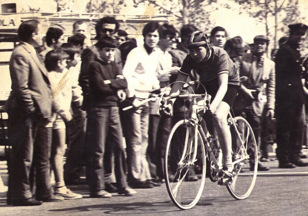 Eduardo Chozas, 1971 con mí Otero blanca en mí segunda carrera en San Blas (Madrid)