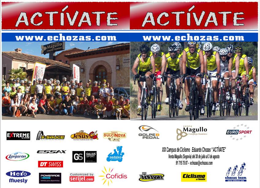 """Díptico 2014 del Campus de Ciclismo """"Actívate"""" Eduardo Chozas - Venta Magullo"""