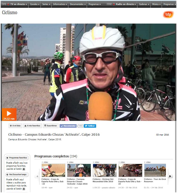 Reportaje de 24 minutos emitido el día 3 de marzo de 2016 y repetido en varias ocasiones