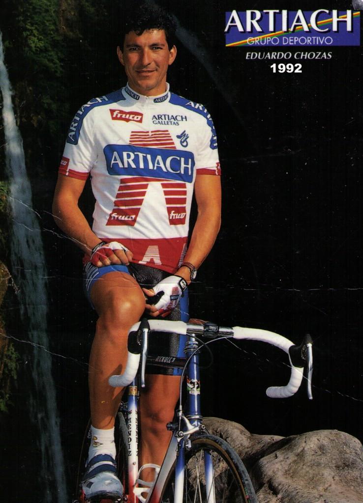 Eduardo Chozas, 1992 y 1993 Equipo Artiach (foto 1992)
