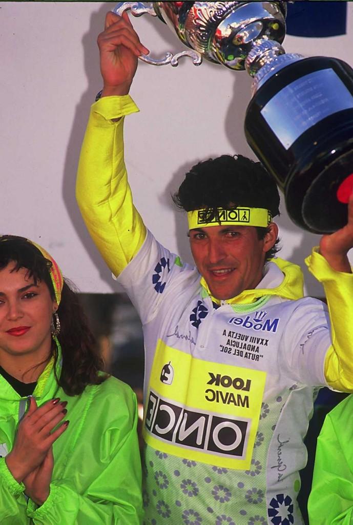 Eduardo Chozas vencedor de la Vuelta a Andalucía 1983 y 1990 (foto 1990)