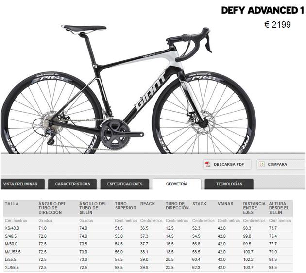 Bici Giant Defy Advanced 1 grupo Shimano Ultegra 11V DISCO en talla M y ML a extrenar OFERTA 1.900 €