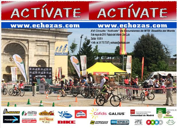 Díptico 2016 Circuito Actívate de Excursiones de Mountain Bike Boadilla del Monte
