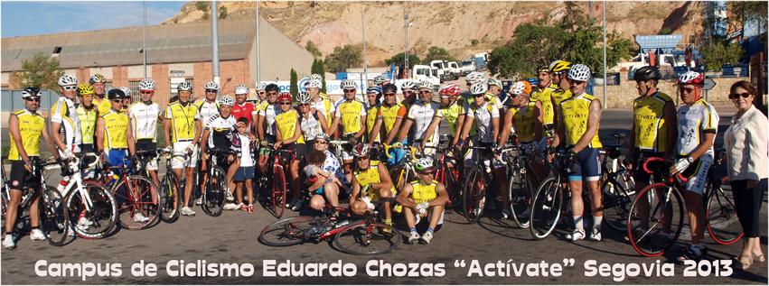 Perico Delgado realizó la 4ª ruta con los participantes del Campus 2013