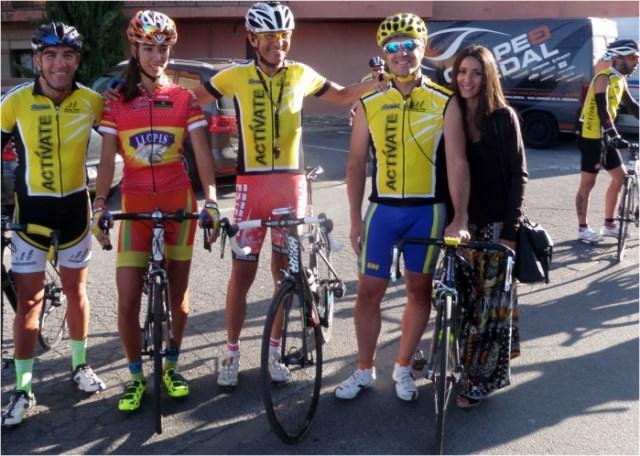 Con la Campeona de España de Cadetes Sandra Alonso