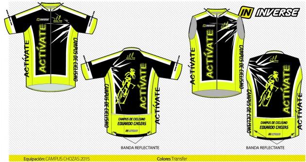 Conjunto de maillot y chaleco diseño 2015 amarillo flúor