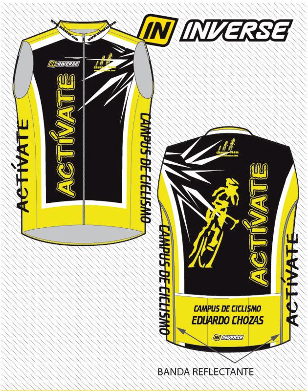 Chaleco 2015 amarillo flúor, negro y blanco