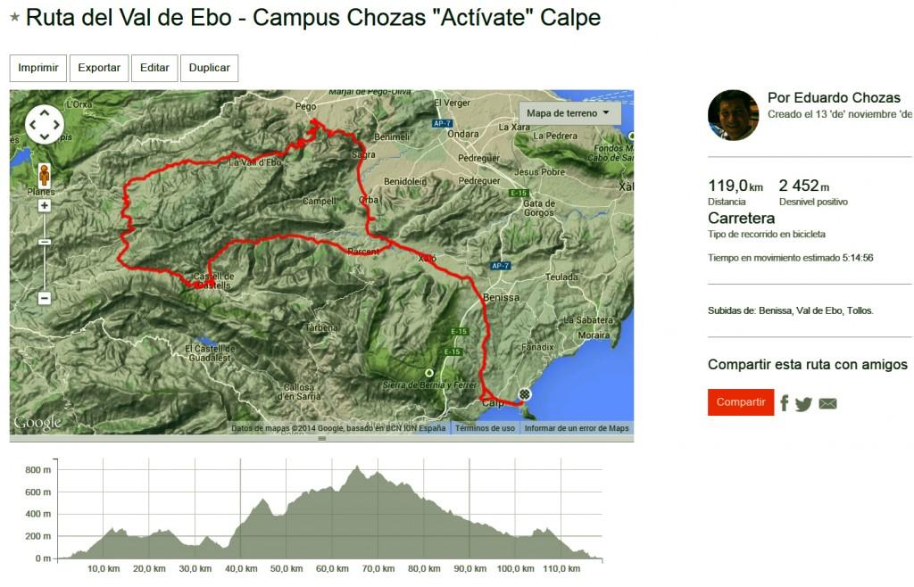 Ruta Val de Ebo por Tollos y Castell de Castells. 120 km