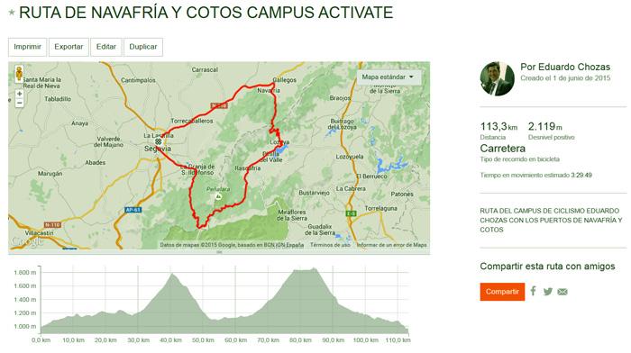 Ruta de Navafría y Alto de Cotos https://www.strava.com/routes/2481808