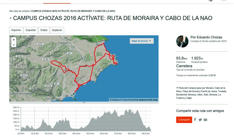 Ruta 1: Moraira, Cabo de la Nao, Jávea, Benitachell, Teulada, Benissa, Lliber, Xaló, Benissa, La Fustera, Calpe